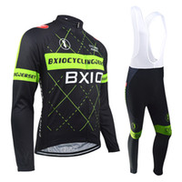 Wholesale thermal suits for winter - BXIO Brand Cycling Jerseys Winter Thermal Fleece And Autumn Long Mesh Cycling Clothes Long Sleeve Suit Two Options Cycle Jerseys For BX-018