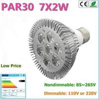 Wholesale E27 Warm 14w - Factory Sale 4pcs LED PAR30 Bulbs E27 14W Cold Warm White 110V 220V Dimmable LED PAR 30 P30 Spotlights Lamps Bulbs Lights