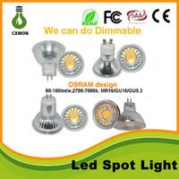 beste lampen großhandel-Quarzglaslampe COB führte Scheinwerfer MR16 GU10 5W 110v 220v hoch leuchtendes Quarzglas MR16 führte Scheinwerfer dimmable und nicht-dimmbar mit bestem