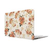 Wholesale Flower Laptop Cases - Wholesale-Luxury Pastoral Flower Rubberized Matte Ultra Thin Hard Laptop Case Cover For Macbook Air 11 13 Pro 13 15 Pro 13 15 Retina Shell