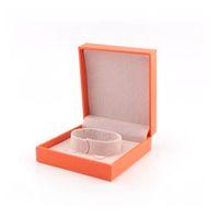 bolsa de embalaje de joyas al por mayor-Las nuevas cajas de brazaletes de amor de la moda llegan, la caja de la pulsera H embala las joyas de embalaje caja de embalaje roja, naranja, compre por favor con la joyería