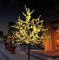 Wholesale Led Cherry Tree Decoration - Handmade Artificial LED Cherry Blossom Tree night Light New year Christmas wedding Decoration Lights 80cm LED tree light MYY