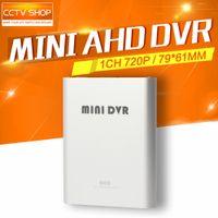 Wholesale Dvr Mini Sd 1ch - 2016 Hot Sale 720P 1CH Mini AHD DVR CCTV Security Camera Audio Video SD Card CCTV DVR Recorder Motion Detection Video Recorder 1280*720