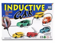 IR Inductive Car Coupe Mini Magic Pen inductivo Vechicle Toy Siga cualquier línea Drawn Battery Incluido Inductive Cars 777-005 Toy for Kids