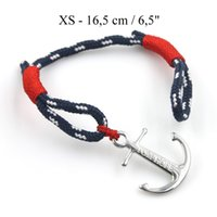 Wholesale Threaded Charms - 1pcs TOM HOPE bracelet Atlantic red thread bracelet Stainless Steel Anchor chain Charm Bracelet with box and tag TH003