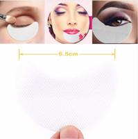 göz çıkartması göz farı toptan satış-Güzellik Makyaj Araçları Tek Kullanımlık Göz Farı Pedleri Göz Jeli Makyaj Kalkanı Pad Koruyucu Sticker Kirpik Uzantıları Yama