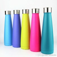 Wholesale Tumblers Drink - The second generation Water Bottle Stainless Steel 500ml Cola Bottle Solid Color Tumbler Portable Summer Cups for Adults