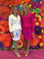 Wholesale Interview Suit Kids - New Arrival Little Girls Pageant Interview Suits 2016 Custom Made Short Dresses for Kids Formal Wear Long Sleeves Cheap Two Styles