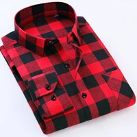 Wholesale business tee shirts for sale - Group buy 2017 Men s Business Plaid Shirts Male Casual Warm Soft Comfort Long Sleeve Shirt Clothes Shirts Tops Tees Plus size Clothing