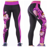 Wholesale Pink Orange Owl - Slim Leggings Female Breathable Yoga Pants Quick Dry Digital Printing Jogging Sports Trousers Body Sculpting Tight Dark Owl LNASlgs