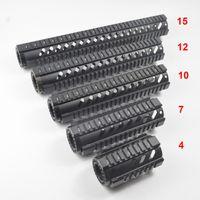 ingrosso quad rails inch-Parapetto guida per parapetto galleggiante libero da 4,7,10,12,15 pollici Colore nero