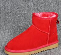 Wholesale Mini Short Boots - Hot Winter Snow Boots Classic Women Warm Mini Short tube Boot Christmas Ladies Minis Shoes Chestnut Chocolate Grey Black Sale
