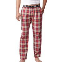 Wholesale Pijama Pants - Wholesale-Hot Sale Pajama Pants Men Underwear Trousers Sleep Bottoms Plaid Mens Lounge Pants Pantalon Piyamas Jovenes Pijama Gootuch 2505
