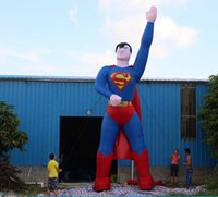 Wholesale Inflatable Superman - hot sale great vigor inflatable standing superman for betray with logo