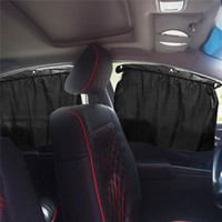 Wholesale Mosquito Mesh Black - 2Pcs Car Window Cover Sunshade Curtain UV Protection Shield Sun Shade Visor Mesh Solar Mosquito Dust Protection Car-covers