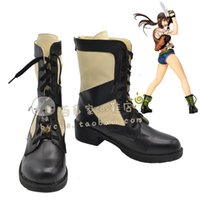 Wholesale Black Lagoon Anime - Wholesale-BLACK LAGOON Revy Rebecca Two-Hand cos Cosplay Shoes Boots shoe boot #JZ621 anime Halloween Christmas