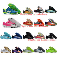 Wholesale Cheap Mens Indoor Soccer Shoes - 2017 cheap soccer cleats Mercurial Vapor XI FG 5 soccer shoes low top mens cr7 football boots superfly cleats Original black soccer boots
