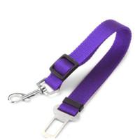 Wholesale Clip Nylon Dog Collar - adjustable pet cat car safety seat belt harness vehicle seatbelt for dogs seat belt clip width 1.5cm dog car seatbelt dog chain