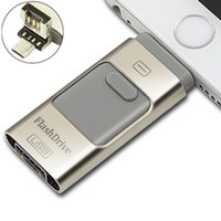 usb real 8gb venda por atacado-Eu-USB Storer 3 Em 1 OTG USB 2.0 I-Flash Drive Real 8 GB 16 GB 32 GB 64 GB Eu Flash Drive para Android IOS do Windows
