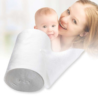 Wholesale Disposable Diapers For Babies - New Safety Baby Flushable Biodegradable Disposable Cloth Nappy Diaper Bamboo Liners 100 Sheets 1 Roll 18cmx30cm for 3-15Kg Baby