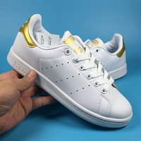 Zapatos De Moda De Oro Baratos-2017 adidas Stan Smith Moda para hombre Mujeres Original Superstar Super Shoes Golden Drop Shipping Tamaño 36-45 Skateboarding Shoes