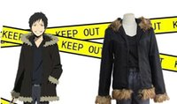 Wholesale Izaya Cosplay Coat - Japanese Anime Durarara 3way standoff DRR Cosplay Orihara Izaya Costume IZAYA Coat for Adults BLACK COLOR