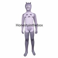 Compra Lycra Bodysuit Cosplay-Halloween My Neighbor Totoro Cosplay Body Costume Bambini Lycra Spandex Full Body Zentai Suit Per Party