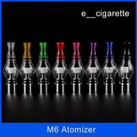 ingrosso 3.5ml clearomizer-Sigaretta elettronica M6 Clearomizer Anti-ossidazione 4.0 ml Cartomizer per sigaretta elettronica M6 Atomizzatore Clearomizer Wax M6 Atomizzatore DHL