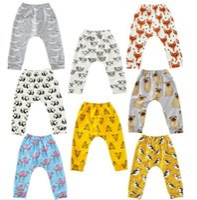 t-shirts imprimés achat en gros de-Bébé Flamingos Leggings pantalons Animal Imprimé Harem Pantalon de Bande Dessinée PP Pantalon Fox Pingouin Collants Mode Casual Pantalon enfant Vêtements KKA2373