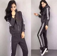 Low Price Women's sportswear sweatshirt the two piece set spring and autumn women sportssuit casual casual roupa