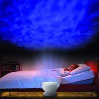 Wholesale Aurora Master Lamp - Rainbow Wave Projector Lamp & Speakers Daren Waves Led nightlight MINI-Wave Aurora Master Night light Lap Speakers Christmas Gift