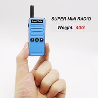 Handheld two way radio black miles - Mini FRS GMRS Cb Walkie Talkie ET M2 channel UHF MHz miles Two Way Ham Radio Transceiver for kids Girl Boy pack Blue Black
