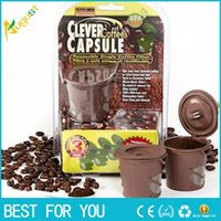 Wholesale Coffee Capsule Reuseable - New arrived Clever Coffee Capsule Reuseable Single Coffee Filter Keurig k-cup Free Shipping