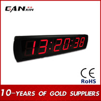 Wholesale Cheap Time Clocks - [Ganxin] Personalizd Large Cheap 4inch Display Time Green LED Count Down Up Days Timer Indoor Decor Wall Digital Clock 24 hours Delivery