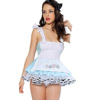 Wholesale Cheap Maid Costumes - High Quality Fancy Dress Cheap Classic French Maid Costume Free Shipping Adorable Look Out Alice Costume Maid Lolita Dress W208174