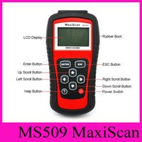 Wholesale Obd Ii Fault Code Reader - MS509 Autel Code Scanner MaxiScan OBD II OBD2 Fault Diagnosis Instrument For Vehicle Detection Instrument Code Reader Diagnostic Tool NEW