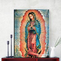Wholesale Digital Oil Painting Lady - ZZ1145 Lady-Guadalupe By Mexico Artist Octavio Ocampo Art Print On Canvas For Wall Picture Decoration Oil Painting canvas prints