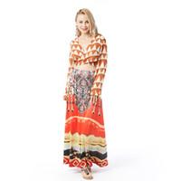 Wholesale Folk Skirt - Women Clothes Casual Skirts Beauty Garden 2017 New Fashion folk-custom Beach Summer Strap Mulit Floor-Lengt Dress Solid Casual Print Women