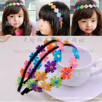 top beb nias adornos para el pelo flor de beb puro manual hoop cabello de los nios accesorios de cabello pgina de las nias headpieces