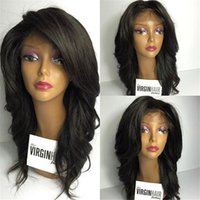 Wholesale bleach knot silk lace wig for sale - New Arrival Unprocessed A Peruvian Human Hair Loose Wave Bleached Knots Silk Top Full Lace Wigs With Baby Hair
