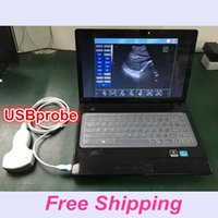 Wholesale Probe Vet - Free ship USG Sonar Probe Ultrasound Uprobe ultrasound machine USBprobe usg scanner with CE&ISO ECHO VET&Human software sonography device