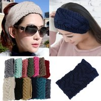 Wholesale indian knitting resale online - Winter Warm Beauty Fashion Colors Flower Crochet Knit Knitted Headwrap Headband Ear Warmer Hair Muffs Band