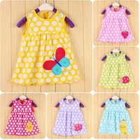 Wholesale Korean Spring Dresses For Sale - 2015 Factory Supplier Hot Sale Summer Embroidered Skirt Original Korean Style Cute Princess Dress for Girl Under 10 months A061707