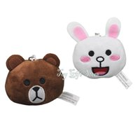 "Wholesale Cute Love Comics - Free Shipping Star Love Cute Bear Plush Keychain Toys And Rabbit Stuffed Toys 2.5"" New Gifts"