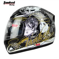 Wholesale Helmet Germany - Germany Tanked Racing full face motorcycle helmet for men and women warm winter T112W motorbike safety helmets made of ABS