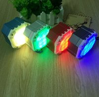 Wholesale Speakers Stereo Subwoofers - Bluetooth Speaker With LED Light Bluetooth Wireless Speakers Portable Subwoofers Stereo Hifi Amplifier MP3