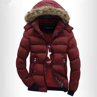 Wholesale Fashionable Mens Jackets Blue - Fall-The new Winter 2015 Hooded Men Cotton-padded Clothes More Fashionable Mens Cotton Mens Wear Cotton-Padded Jacket Coat