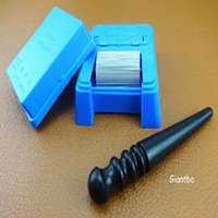 2 pezzi PLASTIC TOP EDGE DYE ROLLER APPLICATORE UTENSILE PER LEATHERCRAFT