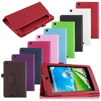 Wholesale Iconia Smart - Litchi Flip PU Leather Stand Case Smart Cover For Acer Iconia One 7 B1 710 720 730 740 750 770 B1-710 B1-720 B1-730 B1-740 B1-750 B1-770