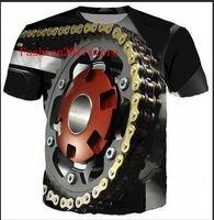 Wholesale Motor T Shirts - Newest Fashion Womens mens Motor Heavy Metal Skull Retro Funny 3D Print Casual Short Sleeve T-shirt LMS000103